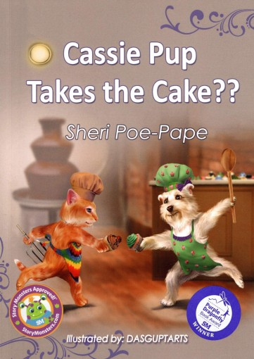 """Cassie Pup Takes the Cake??"" by Sheri Poe-Pape"