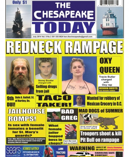 THE CHESAPEAKE TODAY July 2014 by Huggins Point Publishing