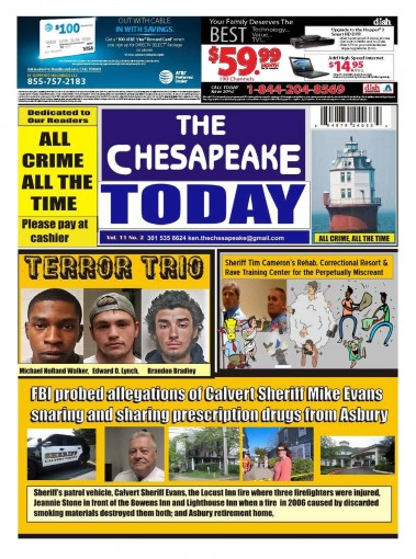 THE CHESAPEAKE TODAY Vol 11 No 2 : All Crime All The Time by Ken  Rossignol