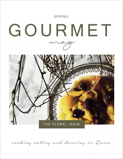 Gourmet Mag: An Italian Cookbook & a Travelogue | The Floral Issue by Claudia Rinaldi