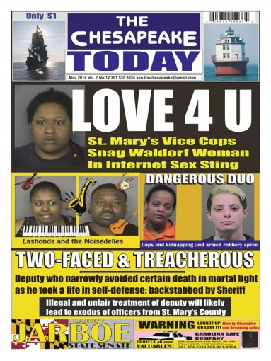 THE CHESAPEAKE TODAY May 2014 All Crime All The Time by Ken Rossignol