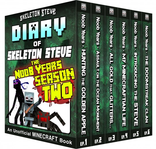 Minecraft Diary of Skeleton Steve the Noob Years – FULL Season Two (2): Unofficial Minecraft Books for Kids, Teens, & Nerds – Adventure Fan Fiction Diary … Mobs Series Diaries – Bundle Box Sets  by Skeleton Steve
